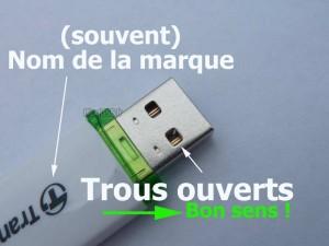 Comment ne plus jamais se tromper en branchant une clé USB !