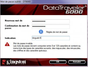 L'utilisateur est invité à rentrer son mot de passe pour voir le contenu de sa clé.