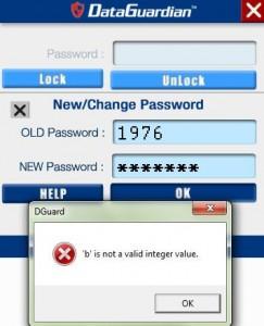 le mot de passe ? des chiffres obligatoirement